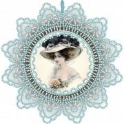 Набор для вышивки подвески бисером Дама