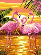 Набор для выкладки алмазной мозаикой Розовые фламинго