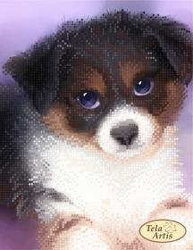 Схема вышивки бисером на атласе Хороший мальчик, , 50.00грн., ТМ-119, Tela Artis (Тэла Артис), Собака символ 2018 года своими руками
