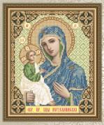 Схема для вышивки бисером на габардине Богородица Иерусалимская