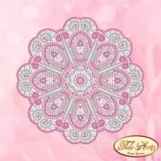 Схема вышивки бисером на атласе Мандала Нежно суфле