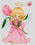 Набор для вышивки крестом Цветочек для мамы
