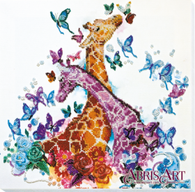 Набор для вышивки бисером на холсте Пятнистые жирафики, , 441.00грн., AB-641, Абрис Арт, Животные