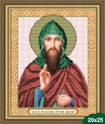 Рисунок на ткани для вышивки бисером Святой Антоний