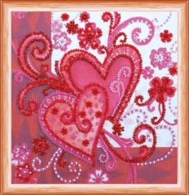Набор для вышивки бисером Любящие сердца Абрис Арт АМ-158 - 98.00грн.