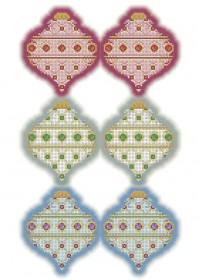 Схема для вышивки бисером на габардине Новогодние игрушки Юла