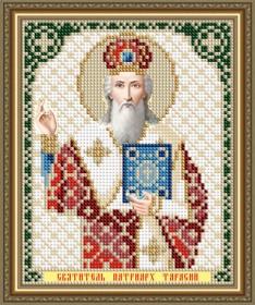 Схема вышивки бисером на авторской канве Святитель Тарасий Патриарх Цареградский