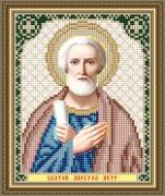 Схема вышивки бисером на авторской канве Святой Апостол Петр