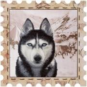 Набор для вышивки нитками Почтовая марка Хаски