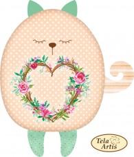 Заготовка для подушки Кот с сердечком Tela Artis (Тэла Артис) СТ-106