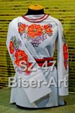 Заготовка для вышивки бисером Сорочка женская Biser-Art Сорочка жіноча SZ-47 (габардин)