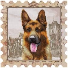 Набор для вышивки нитками Почтовая марка Овчарка