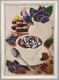 Набор для вышивки бисером Фиалковый натюрморт, , 340.00грн., 160Б, Баттерфляй (Butterfly), Натюрморты