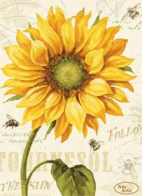 Схема для вышивки бисером на атласе Солнышко-2, , 95.00грн., ТА-394, Tela Artis (Тэла Артис), Цветы