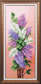 Набор для вышивки бисером Вдохновение Сирень, , 641.00грн., Б-195 МК, Магия канвы, Цветы