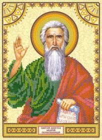 Схема для вышивки бисером на холсте святой Андрей