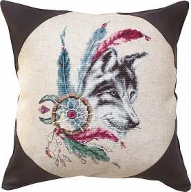 Набор подушки для вышивки крестом Волк, , 346.00грн., РВ143, Luca-S, Подушки