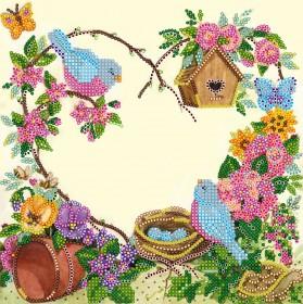 Схема вышивки бисером на холсте Семейка