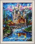 Набор для вышивки бисером Замок у реки