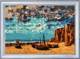 Набор для вышивания бисером Лодки на берегу