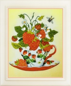 Набор для вышивки нитками (стиль Rococo) Клубничный чай