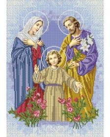 Схема вишивкі бісером на габардині Святе сімейство