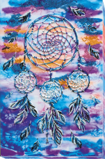 Набор для вышивки бисером на холсте Амулет ловец снов Абрис Арт АВ-584