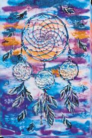 Набор для вышивки бисером на холсте Амулет ловец снов, , 616.00грн., АВ-584, Абрис Арт, Наборы и схемы для вышивки бисером и нитками Восток