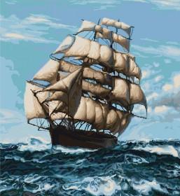 Набор для вышивки крестом Корабль, , 975.00грн., В438, Luca-S, Морская тематика