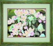 Схемы для вышивания бисером на авторской канве Яблочное цветение