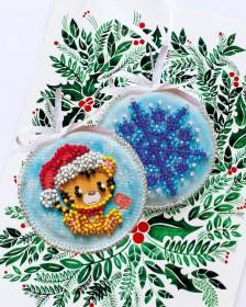 Набор для вышивки новогоднего украшения Тигренок