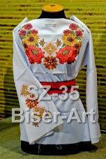 Заготовка для вышивки бисером Сорочка женская Biser-Art Сорочка жіноча SZ-35 (габардин)
