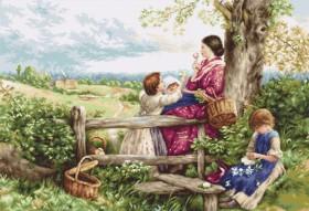 Набор для вышивки крестом Весенние цветы