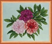 Набор для вышивки крестом Трио Пионов