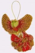 Набор для изготовления игрушки из фетра для вышивки бисером Птица счастья