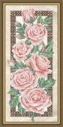 Схема для вышивки бисером на габардине Розы на бежевом