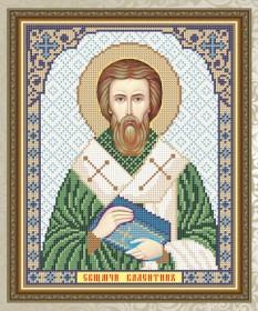 Схема для вышивки бисером на габардине Священомученик Валентин