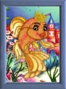 Схема для вышивки бисером на атласе Золотая рыбка