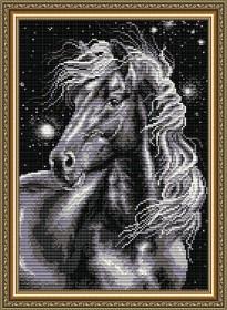Набор для выкладки алмазной мозаикой Конь черный