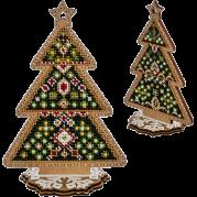 Набор для вышивки  бисером по дереву Елочка