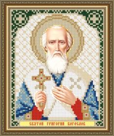 Схема вышивки бисером на авторской канве Святой Григорий Богослов