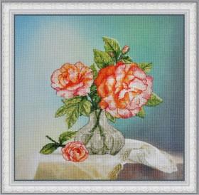 Набор для вышивки нитками Розы