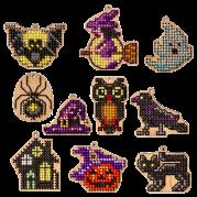 Набор заготовок для вышивки бисером по дереву Хеллоуин