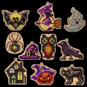 Набор заготовок для вышивки бисером по дереву Хеллоуин Волшебная страна FLSW-010 - 220.00грн.