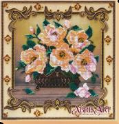 Набор для вышивки бисером на холсте Баллада о цветах