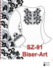 Заготовка для вышивки бисером Сорочка женская Biser-Art Сорочка жіноча SZ-91 (габардин)
