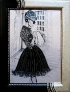 Набор для вышивки бисером на габардине Французский шик