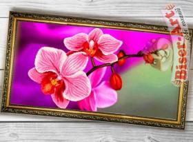 Схема вышивки бисером на габардине Панно Рожева орхідея Biser-Art 3060004 - 130.00грн.
