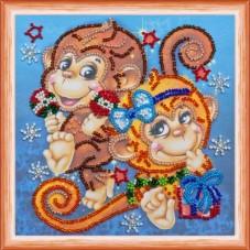 Набор для вышивки бисером Весёлые обезьянки Абрис Арт АМ-114