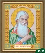 Рисунок на ткани для вышивки бисером Святой Алезий (Алексий)